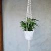macramé závěs na rostliny